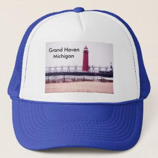 Grand Haven, MI  Lighthouse Trucker Hat