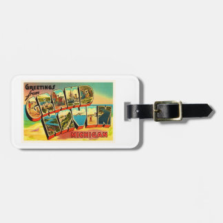 Grand Haven Michigan MI Vintage Travel Souvenir Bag Tag