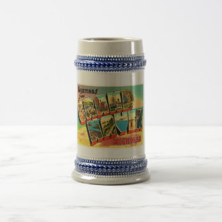 Grand Haven Michigan MI Vintage Travel Souvenir Beer Stein