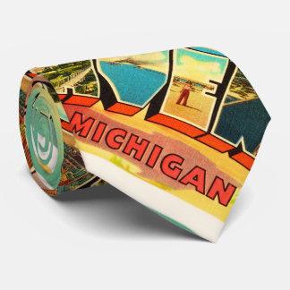 Grand Haven Michigan MI Vintage Travel Souvenir Tie