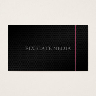 Grand honeycomb texture burgundy lined business card
