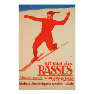 Grand Hôtel des Rasses, Sainte-Croix Vintage Poster
