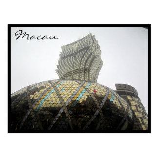 grand lisboa grey postcard