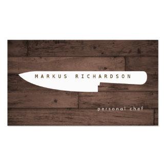 Grand logo 4 de couteau de chef pour le chef cartes de visite professionnelles