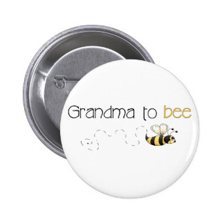 Grand-maman au bouton d'abeille macaron rond 5 cm