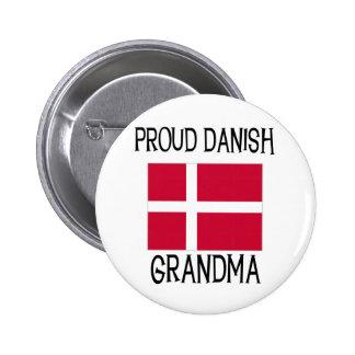Grand-maman danoise fière macaron rond 5 cm