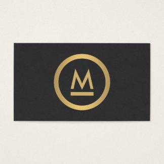 Grand monogramme moderne initial en or de Faux Cartes De Visite