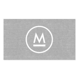 Grand monogramme moderne initial sur la toile carte de visite standard