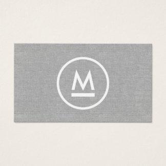 Grand monogramme moderne initial sur la toile cartes de visite