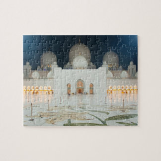 Grand Mosque, Abu Dhabi, UAE, United Arab Emirates Jigsaw Puzzle