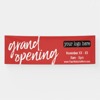 Grand Opening Advertisement - Add Logo and Details Banner