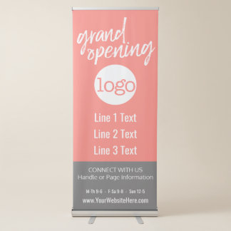 Grand Opening Advertisement - Add Logo and Details Retractable Banner