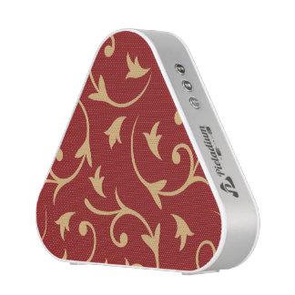 Grand or baroque de conception sur le rouge haut-parleur bluetooth