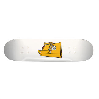 grand orange upright piano with music.png skateboard deck