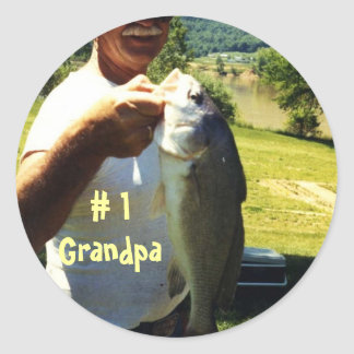 Grand-papa de pêche adhésif rond