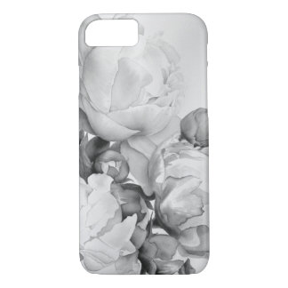 Grand Peony - black and white iPhone 8/7 Case