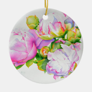 Grand Peony Ceramic Ornament