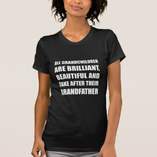 Grand-père brillant de petits-enfants t-shirt