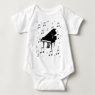 Grand Piano and Music Notes T Shirt