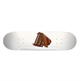 Grand Piano Brown Bird's Eye View Custom Skate Board