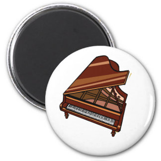 Grand Piano Brown Bird's Eye View Magnet