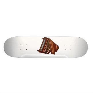 Grand Piano Brown Bird's Eye View Skate Boards