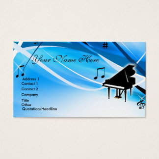 Grand Piano Business Card