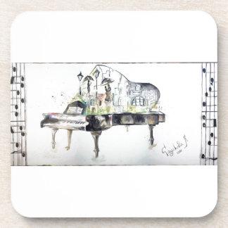 Grand piano coaster