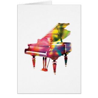 Grand Piano Colourful Abstract Greeting Card