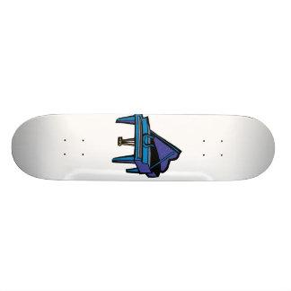 Grand Piano Graphic, Blue Image Skate Deck