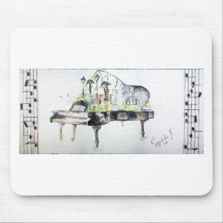 Grand piano mouse pad