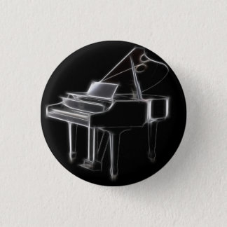 Grand Piano Musical Classical Instrument 1 Inch Round Button
