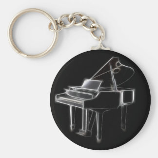 Grand Piano Musical Classical Instrument Keychain