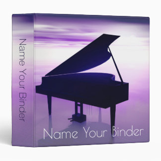 Grand Piano On the Beach Surrealistic Music Binder