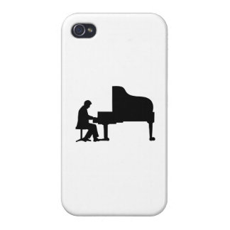Grand piano pianist iPhone 4/4S cases
