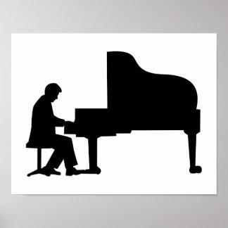 Grand piano pianist print