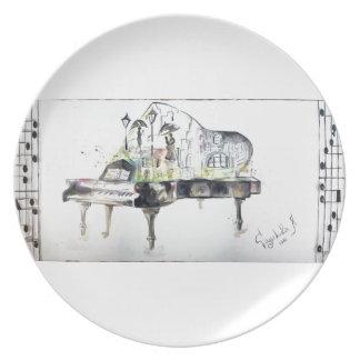 Grand piano plate