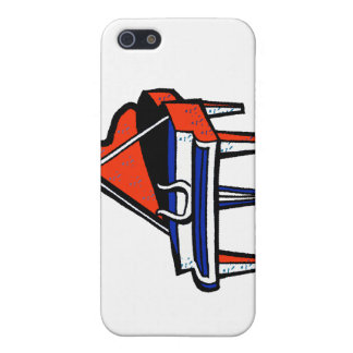 Grand Piano Red White Blue Graphic Image iPhone 5 Case