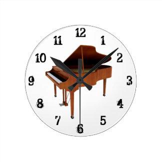Grand Piano: Wall Clock