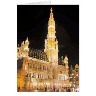 GRAND PLACE, BRUSSELS BELGIUM CARD