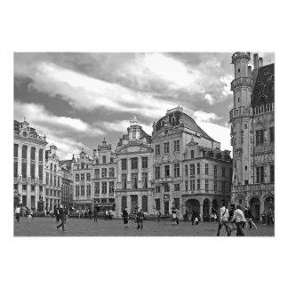 Grand Place. Houses in the Flemish Baroque style Photo Print