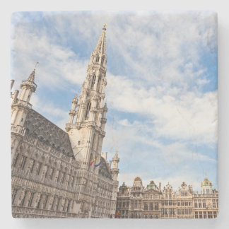 Grand Place in Brussels Stone Coaster