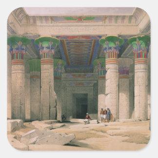 Grand Portico of the Temple of Philae, Nubia Square Sticker