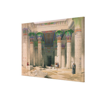 Grand Portico of the Temple of Philae, Nubia Stretched Canvas Prints