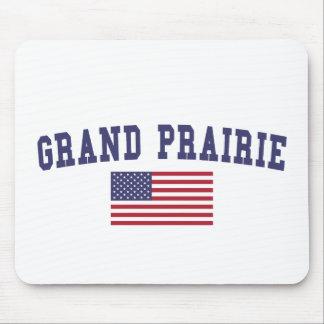 Grand Prairie US Flag Mouse Pad