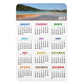 Grand Prismatic Spring 2017 Calendar Magnet