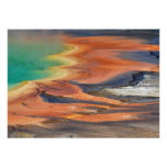 Grand Prismatic Spring Runoff Poster
