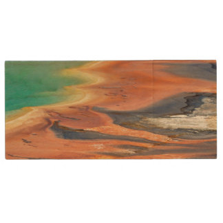 Grand Prismatic Spring Runoff Wood USB Flash Drive