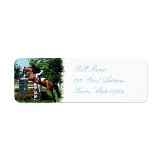 Grand Prix Horse  Mailing Label