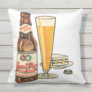 Grand Prize Beer Outdoor Pillow